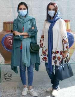 مارال و مونا فرجاد با ماسک