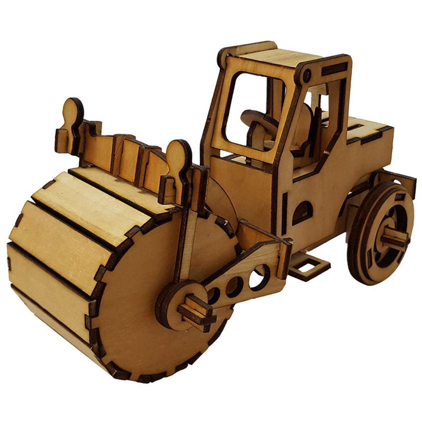 پازل سه بعدی چوبی برتاریو مدل غلتک راه سازی