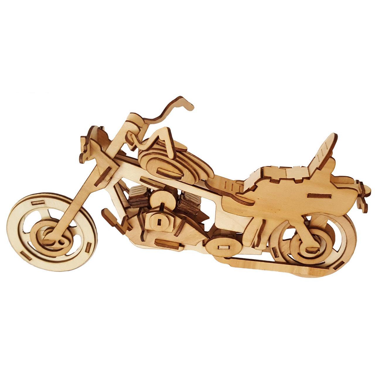 پازل سه بعدی چوبی 83 تکه برتاریو مدل Motorcycle