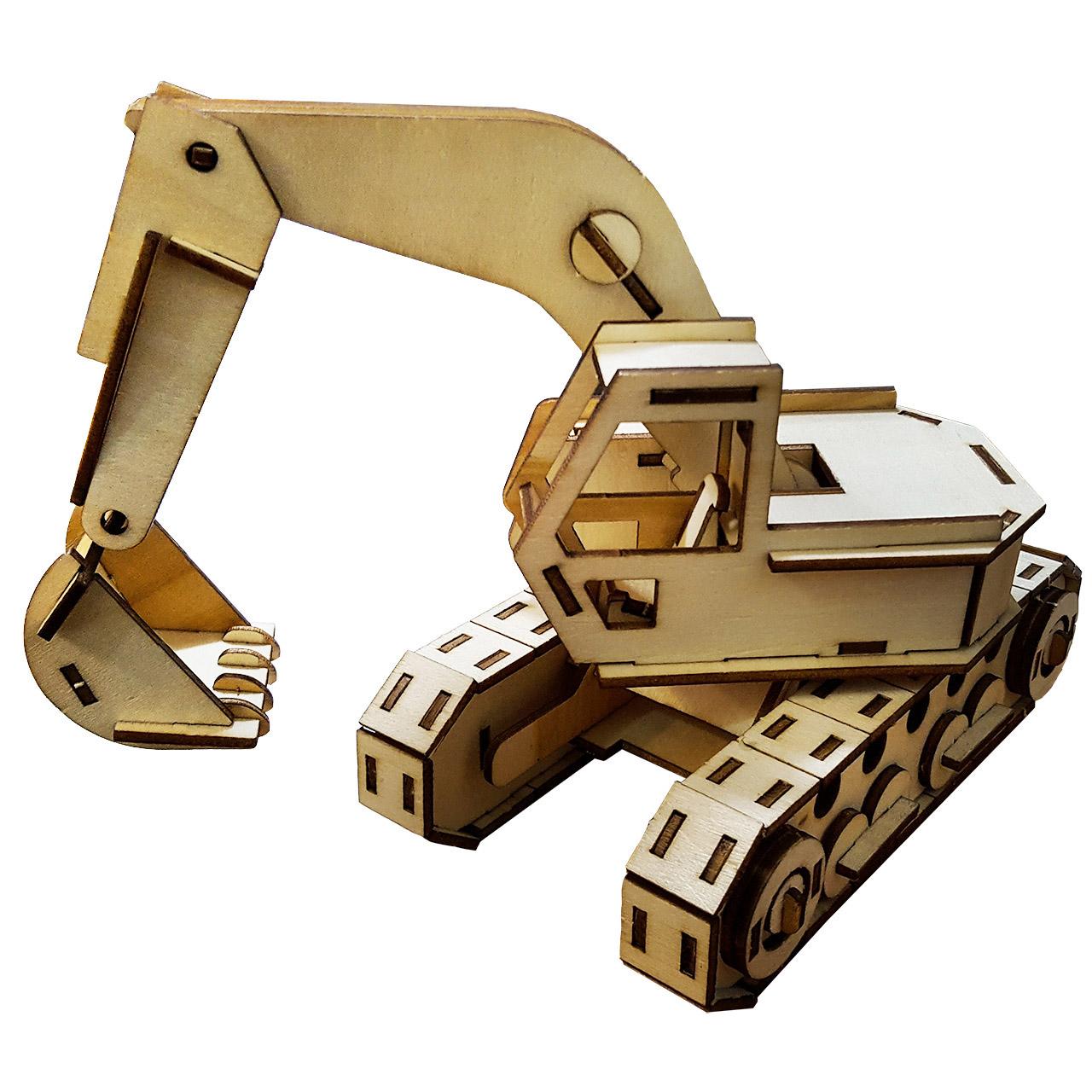 پازل چوبی سه بعدی برتاریو مدل بیل مکانیکی