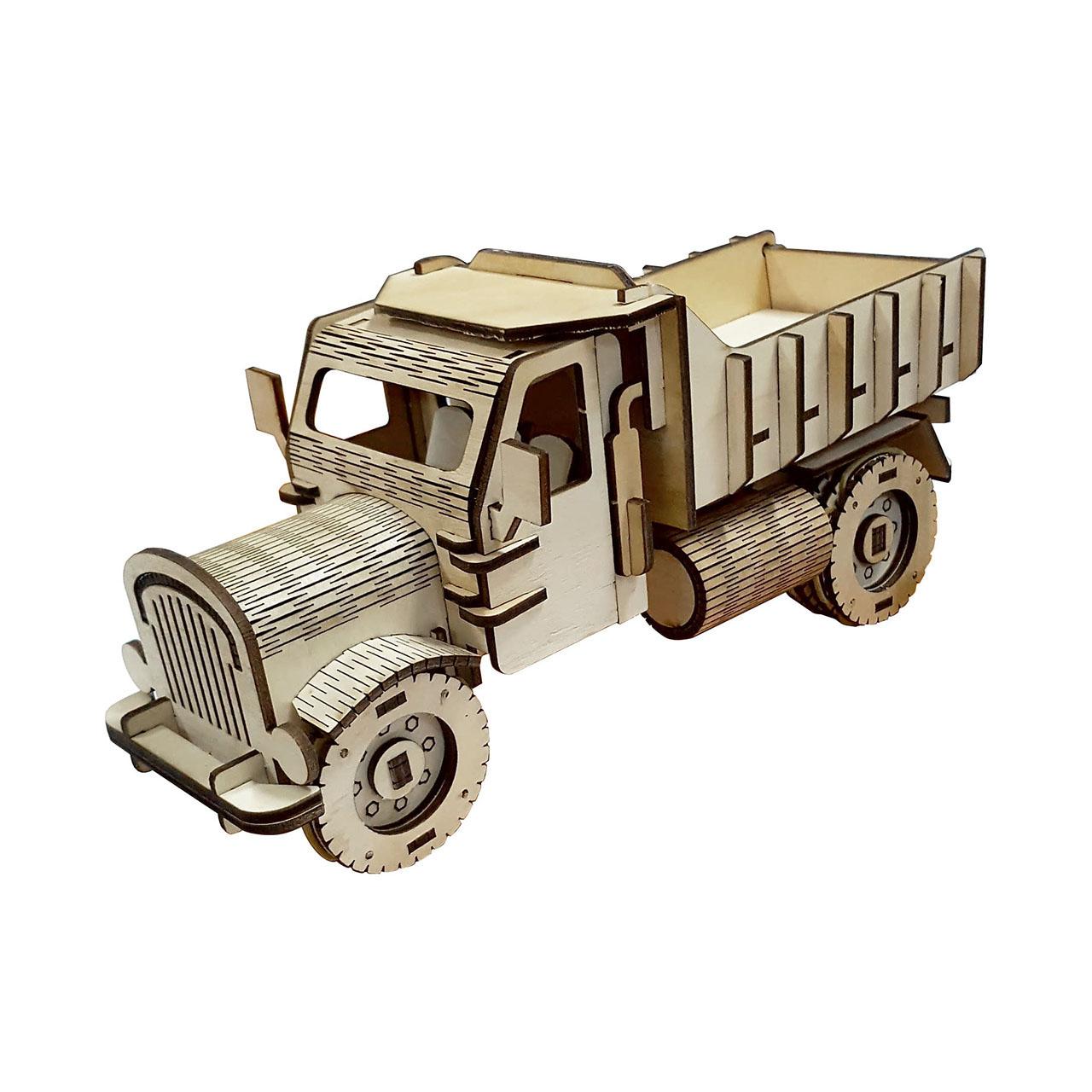 پازل سه بعدی چوبی برتاریو مدل کامیون