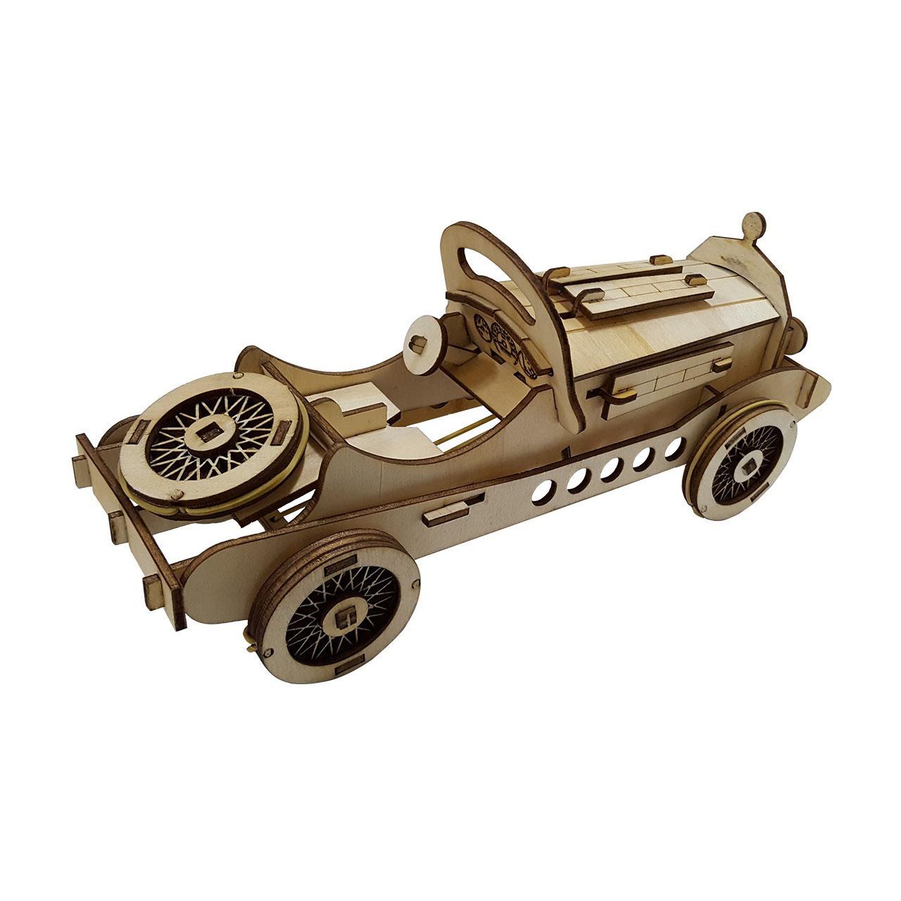 پازل سه بعدی چوبی برتاریو مدل مرسدس