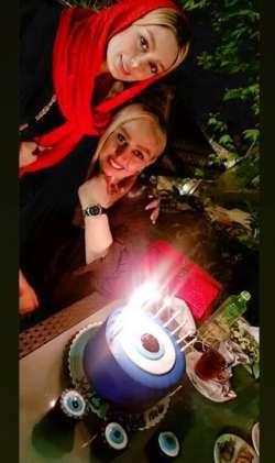 جشن تولد مادر سحر قريشي بازيگر سينما
