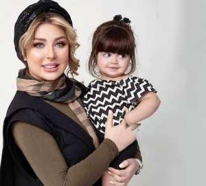 نيوشا ضيغمي همراه دختر کوچولويش