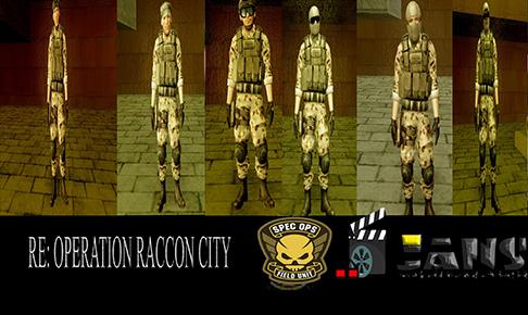 دانلود پک اسکین سربازان Spec Ops از بازی رزیدنت ایول راکن سیتی برای GTA SA