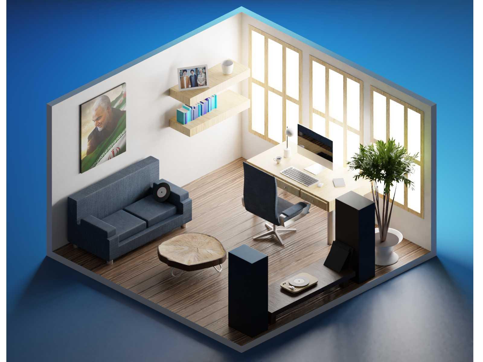 مدل سه بعدی اتاق + تکسچر