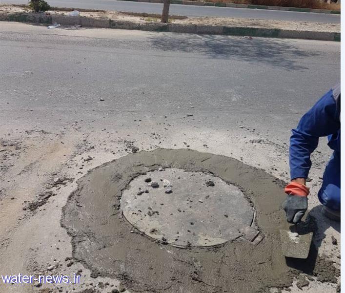 طرح همسان سازی دریچه های فاضلاب شهر بندرعباس در حال اجراست