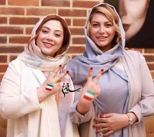 عکس دونفره فريبا نادري و مريم سلطاني