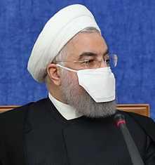 ماسک خنده دار رئيس جمهور ايران حسن روحاني