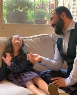 مجيد صالحي بازيگر سينما و دخترش حنا