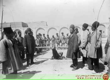مراسم تنبيه کردن مجرمين در دوران قاجاريه