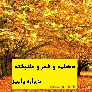 اشعار و دلنوشته های پاییز به قلم الهه فاخته