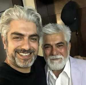 مهدي پاکدل با برادرش حسين پاکدل