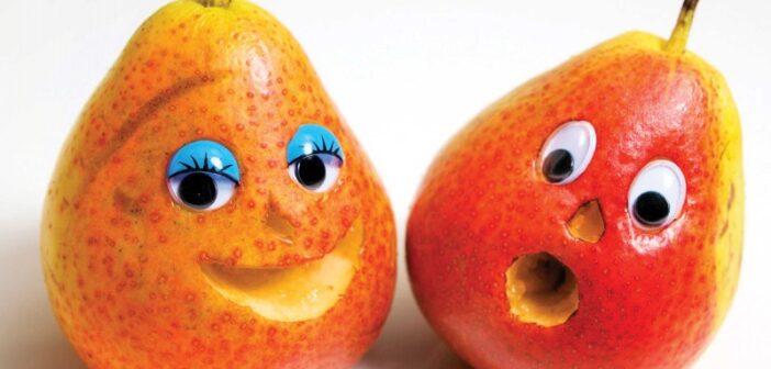 با ایده های جالب برای تزیین گلابی و دیزاین این میوه آشنا شوید