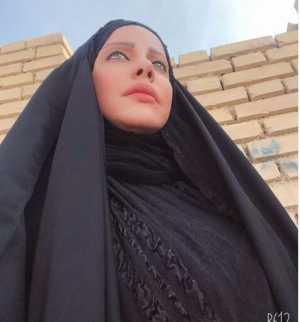 شراره رخام با چادر و حجاب کامل