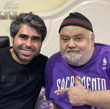 امير نوري و اکبر عبدي در يک عکس