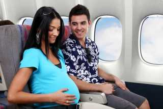 مسافرت با هواپيما در دوران بارداري / مسافرت رفتن خانم هاي حامله با هواپيما