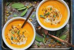 آموزش درست کردن سوپ کدوحلوايي با شير