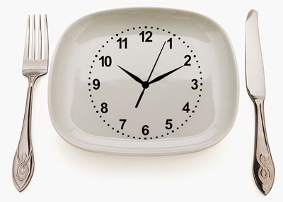 آداب غذا خوردن،زمان غذا خوردن