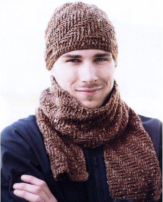 مدل شال و کلاه مردانه بافت