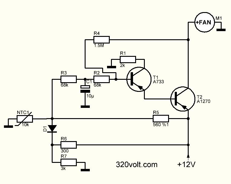 مدار کنترل سرعت فن حساس به حرارت (PCB SMD-DIP)
