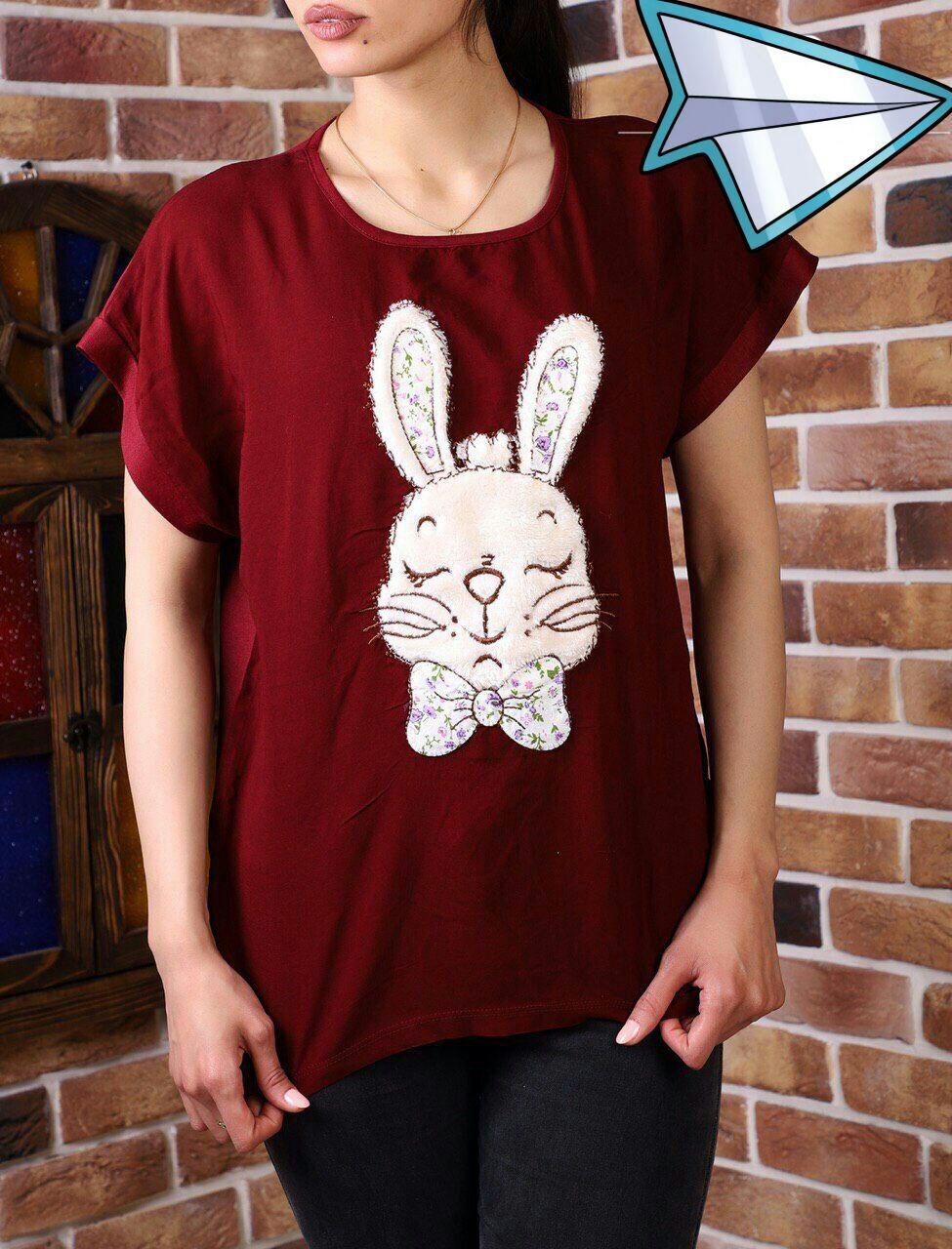 تیشرت نخی طرح خرگوش