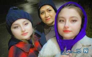 عکس سه نفري سارا و نيکا و مادرشان