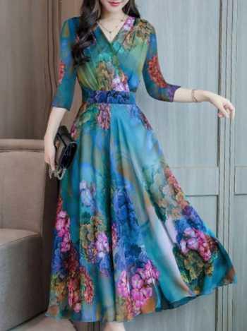 پيراهن زنانه با رنگ هاي متنوع و بسيار زيبا