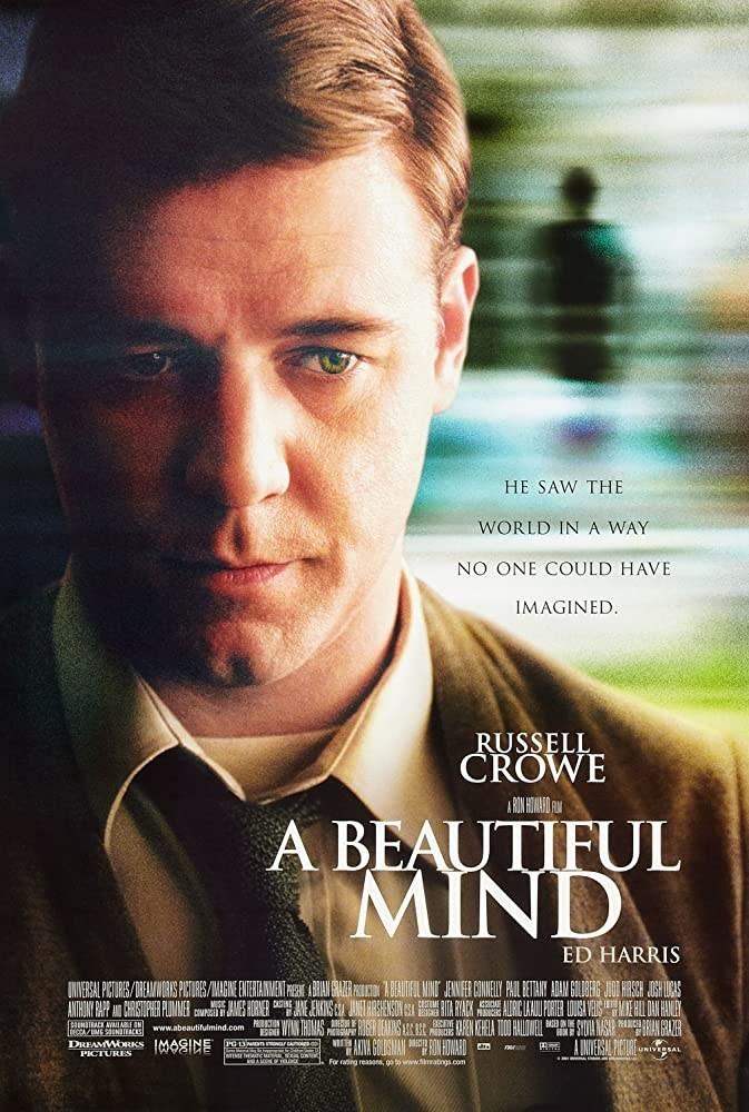 دانلود فیلم درام A Beautiful Mind 2001 ذهن زیبا