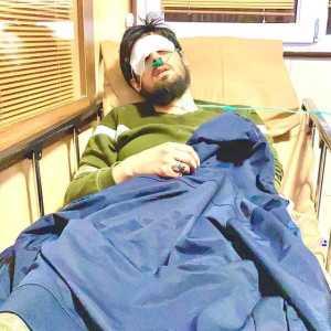 تصوير حامد زماني روي تخت بيمارستان / حامد زماني خواننده محبوب