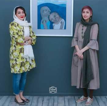 عکس دو نفره هانيه توسلي با خواهرش