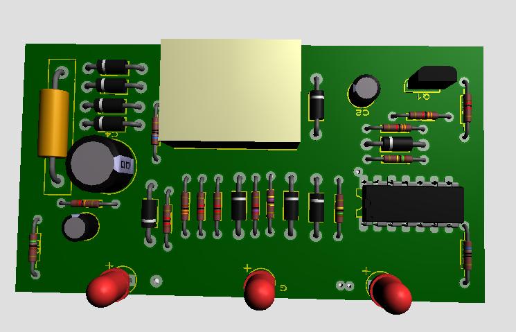 محافظ برق 220 ولت با lm324
