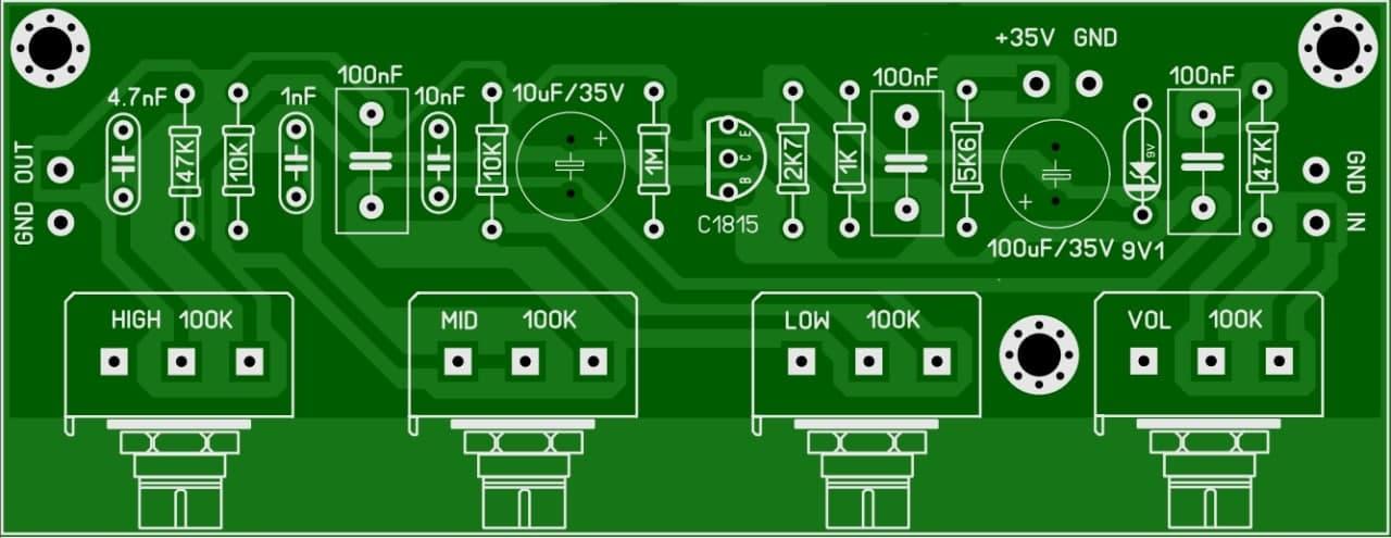 تن کنترل تک ترانزیستور با bc1815