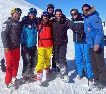 محمد رضا گلزار در پیست اسکی دربند