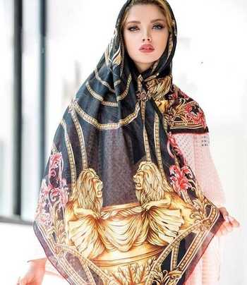 روسري بسيار زيبا براي خانم ها با طرح شير