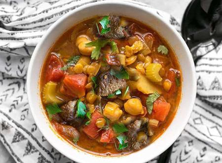 طاجین گوشت و به به سبک مراکشی