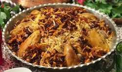 طرز تهيه يک غذاي عربي به نام مجبوس مرغ