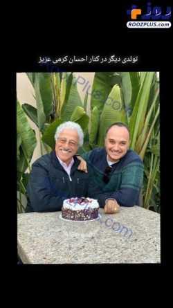 جشن تولد عليرضا خمسه در کنار احسان کرمي