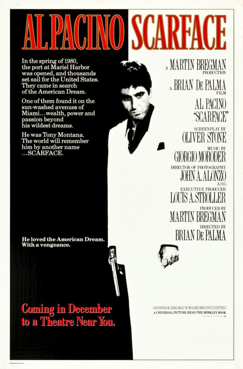 دانلود فیلم صورت زخمی |  Scarface1983