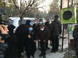 مراسم تشييع جنازه علي انصاريان امروز صبح برگزار شد