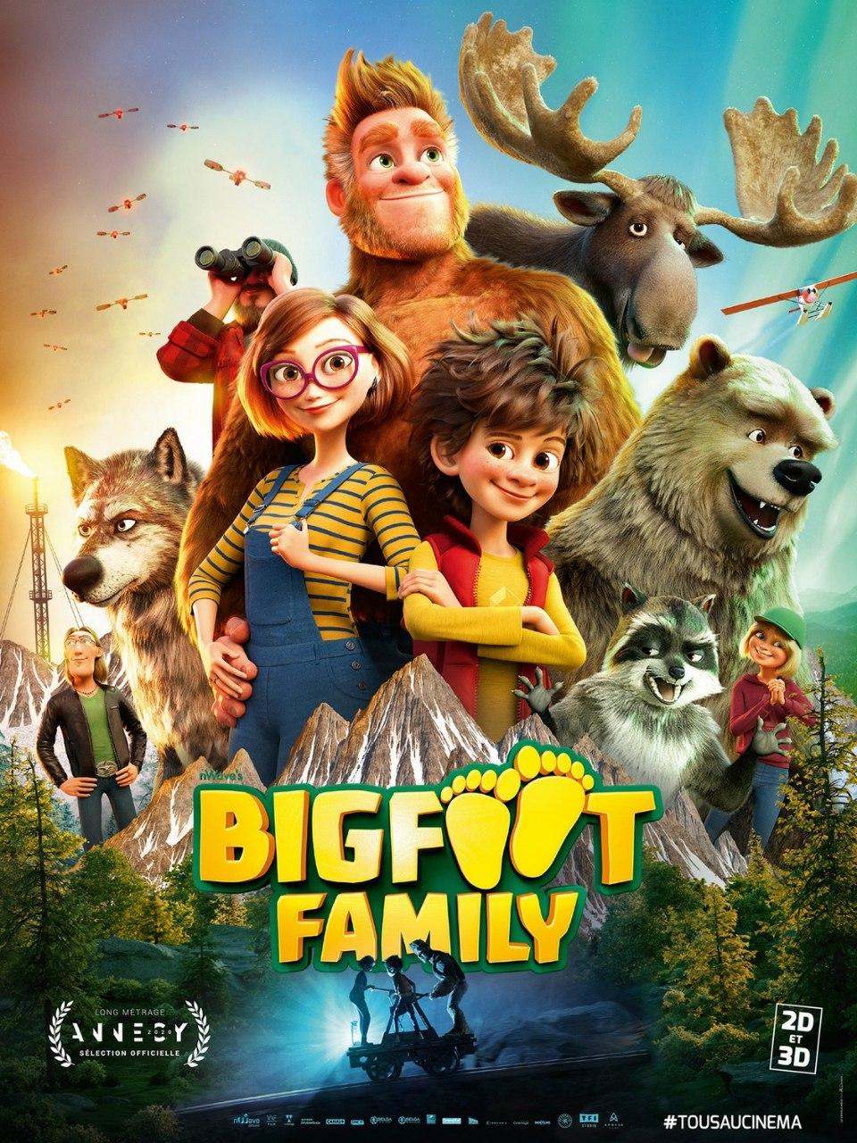 دانلود انیمیشن جدید خانواده پاگنده | Bigfoot Family 2020