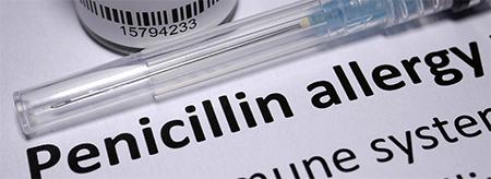 علائم حساسیت به پنی سیلین،نشانه حساسیت به پنی سیلین