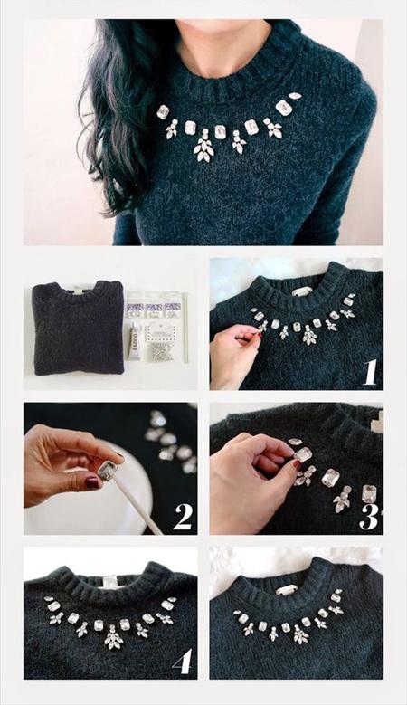 آموزش تزیینات ساده روی لباس