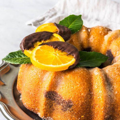 کیک مرمری نارنجی
