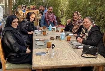 مريم اميرجلالي با دوستانش در روزهاي کرونايي