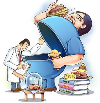 چاق شدن،پرخوری و کم تحرکی