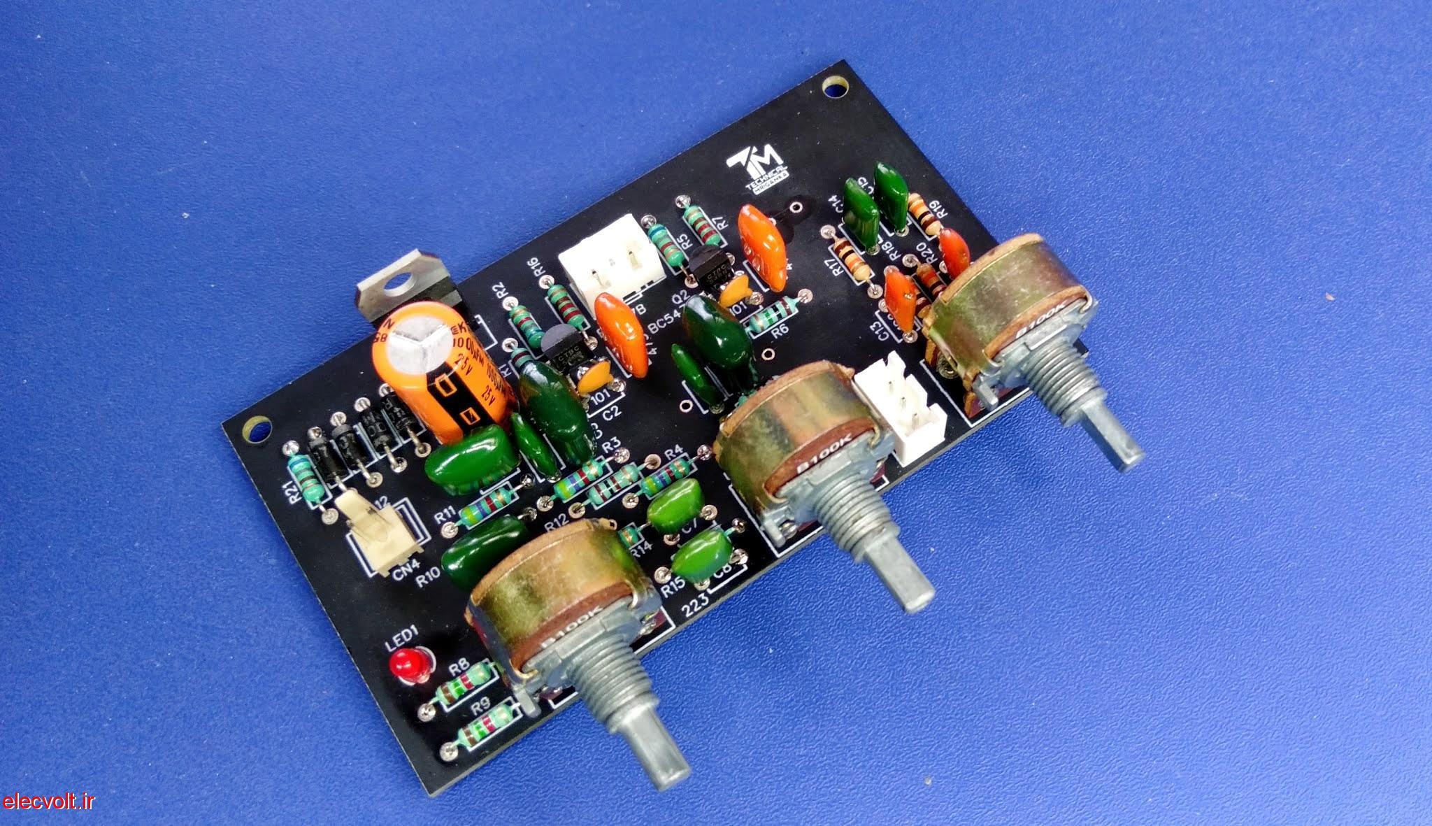 ساخت کنترل تن استریو 3 باند