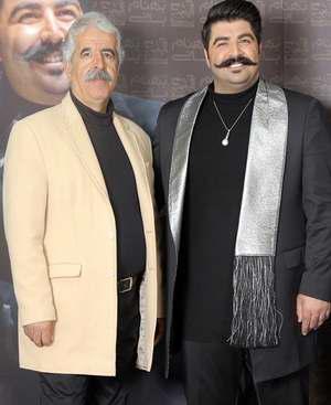 عکس دو نفري بهنام باني در کنار پدرش