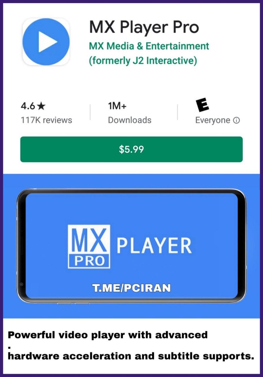 دانلود رایگان برنامه MX Player Pro v1.34.7 NEON AC3 Patched