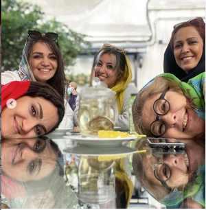 خوشگذراني الهام پاوه نژاد با دوستانش